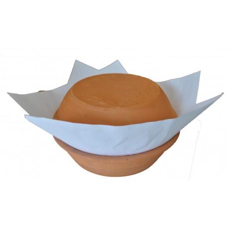 Forma de barro para pão de ló 500 gr.