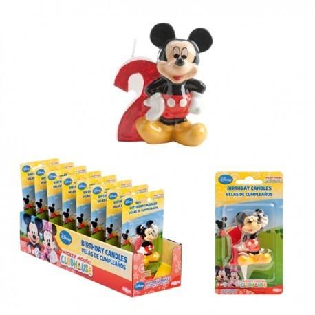 Vela Mickey Nº2 5cm