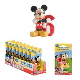 Vela Mickey Nº6 5cm