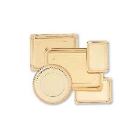 Prato cartão dourado 25,5 cm