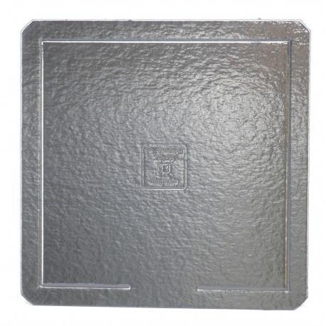 Base cartão prata 40x40 cm