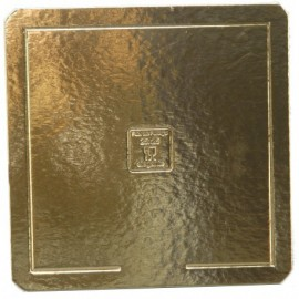Base cartão dourada 28x28 cm