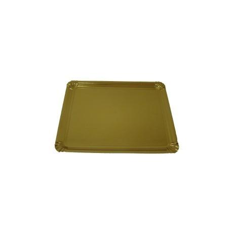 Travessa cartão ouro 30,5x38 cm