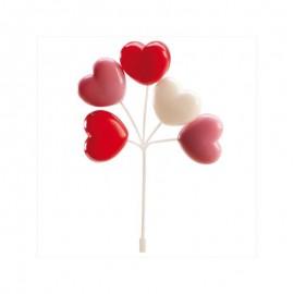 Balões PVC corações decoração dekora