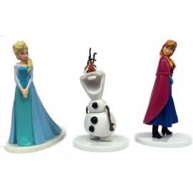 Conjunto Frozen Ana + Elsa + Olaf PVC 8 cms