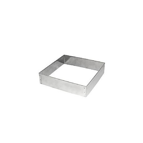 Aro quadrado inox 28x5 cm