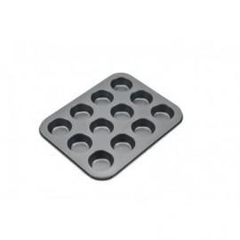 Tabuleiro - Forma anti-aderente 12 queques Patisse