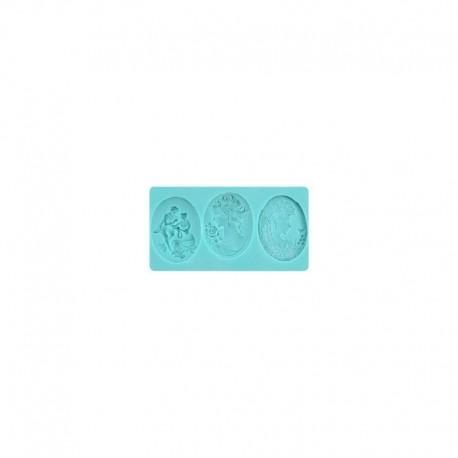 Molde silicone Medalha Camafeu