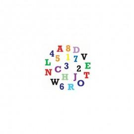Cortante marcador letras e números maiúsculas