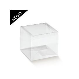 Caixa PVC Transparente com 12x12x8 cm