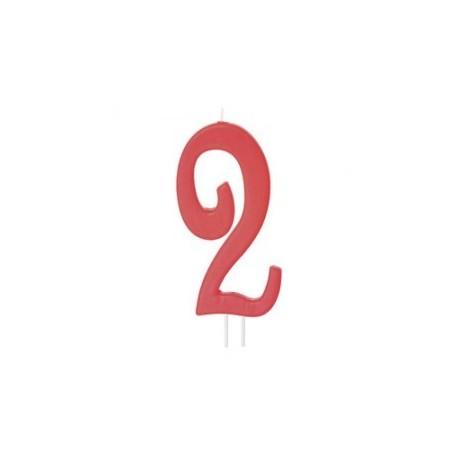 Vela vermelha grande 12 cms nº 2