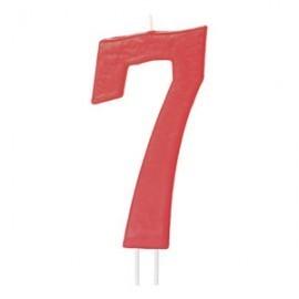 Vela vermelha grande 12 cms nº 7