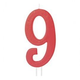 Vela vermelha grande 12 cms nº 9