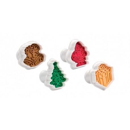Corta massas com carimbo Natal 4 peças