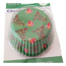 Petifur cupcake PME arvore natal 60 unid.