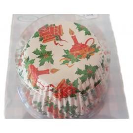 Petifur cupcake motivo natal 100 unid.