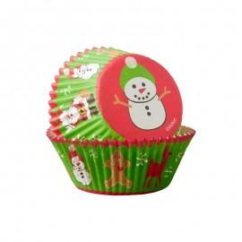 Petifur cupcake boneco de neve - natal 75 unid. Wilton