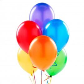 Balão liso com uma única cor