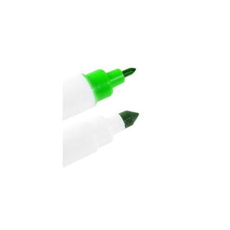 Caneta alimentar verde com 2 pontas