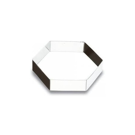 Aro hexagonal inox 20x5 cm