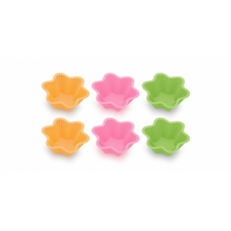 Formas de bolos em silicone DELÍCIA, 6 pcs, pequenas estrelas