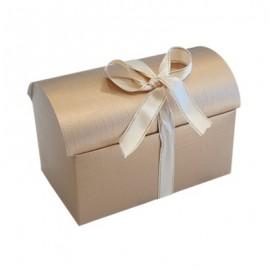 Caixa tipo baú Ouro com 10x7x7,5 cms