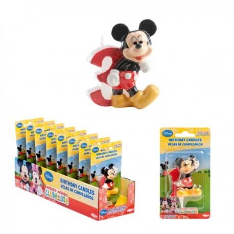 Vela Mickey Nº3 5cm