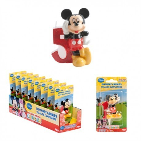 Vela Mickey Nº5 5cm