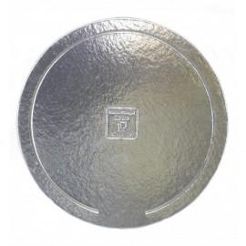 Base cartão dupla face prata - branco diâmetro 30 cm