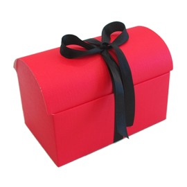 Caixa tipo baú Vermelho com 10x7x7,5 cms