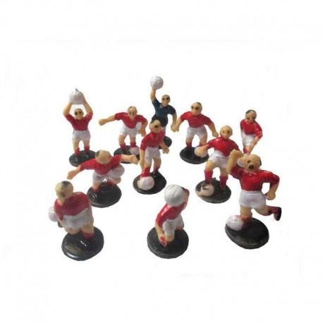 Jogadores futebol Vermelhos e Brancos