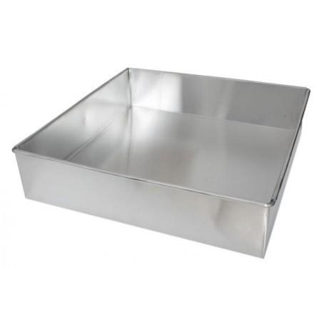 Forma quadrada vincada 20x20x6 cms