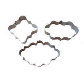 Cortante placa em metal 3 moldes