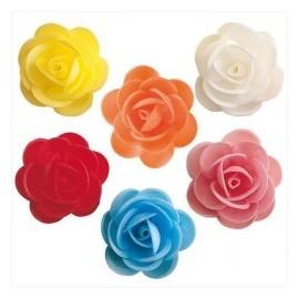 Rosa em papel hostia 5 cms