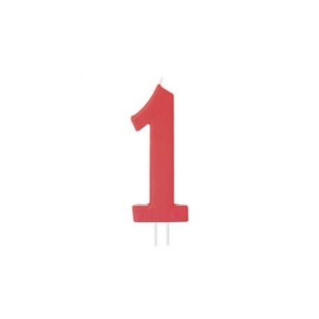 Vela vermelha grande 12 cms nº 1