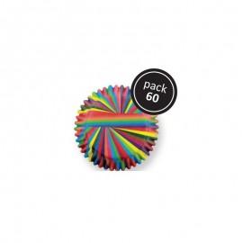 Petifur cupcake PME arco iris fino 60 unid.