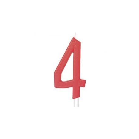 Vela vermelha grande 12 cms nº 4