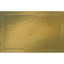 Travessa dupla face Ouro - preto 32x42