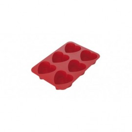 Tabuleiro silicone com 6 cupcake corações Tescoma