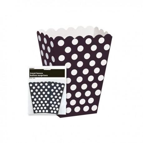 Caixa pipocas preta com bolas brancas - 8 unid.