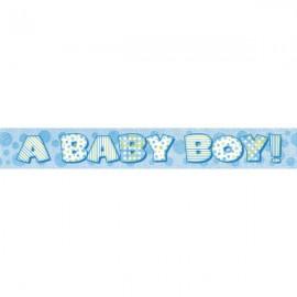 "Faixa brilhante ""A baby boy"" com 3,65 mts Unique"