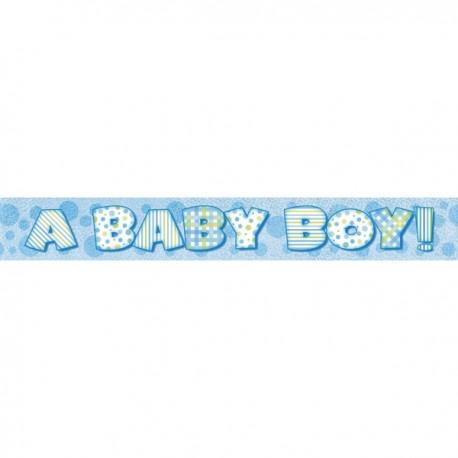 "Faixa brilhante ""A baby boy"" com 3,65 mts"