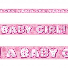 "Faixa brilhante ""A baby girl"" com 3,65 mts Unique"