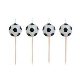 Conj. 6 velas formato de bola futebol Unique