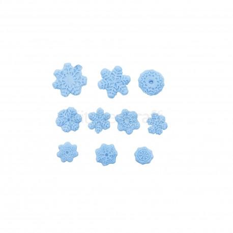 Molde Silicone vários flocos neve Kitchen Craft
