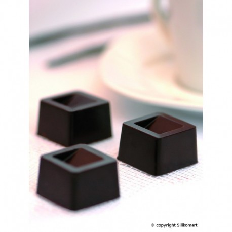 Molde Silicone Bombons Cubo Silikomart