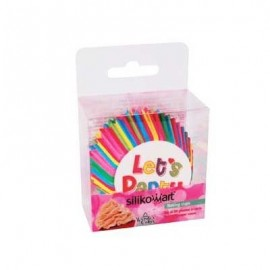 Petifur cupcake colorido Let´s party 50 unid. Silikomart