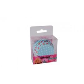 Petifur cupcake azul bébé 50 unid. Silikomart