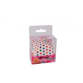Petifur cupcake bolinhas coloridas 50 unid. Silikomart