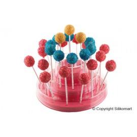 Suporte cakepops rosa 225,5 H 110 mm Silikomart